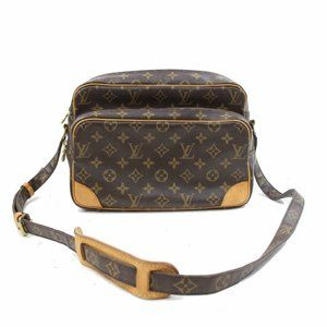 Auth Louis Vuitton Monogram Nile Cross body Bag